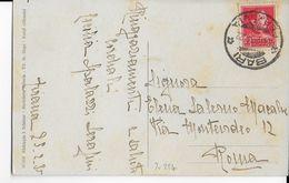 ALBANIE - 1935 - CARTE De TIRANA => ROMA OBLITEREE à L'ARRIVEE Du PAQUEBOT à BARI (ITALIE) - MARITIME RARE - Albanie