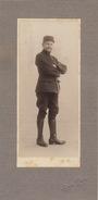 2 Photos Sur Carton Militaire George Rouge à Calais 29x14cm - Guerre, Militaire