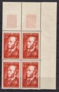 FRANCE 1951 - BLOC DE 4 TP  Y.T. N° 880 - COIN DE FEUILLE NEUFS** /W62 - Ungebraucht