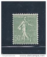 France Semeuse Lignée N°198  50ct  Vert  Neuf ** Sans  Charnière Cote 13€ - 1903-60 Semeuse Lignée