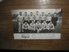 Photo Format Cp FOOTBALL équipe RACING CLUB DE PARIS 1949/50 - Photography