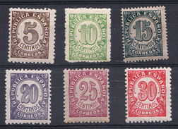 ESPAÑA 1938. CIFRAS EDIFIL Nº 745/750  NUEVOS SIN    CHARNELA  CECI 2 Nº 128 - 1931-Hoy: 2ª República - ... Juan Carlos I