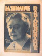 La Semaine Radiophonique N°49 > 8.12.1946 > Mady Berry, Programmes De France & étranger 26 Pages - Books, Magazines, Comics