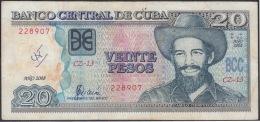2008-BK-120 CUBA 2008 20$ CAMILO CIENFUEGOS. REEMPLAZO REPLACEMENT. USED. SERIE CZ - Cuba