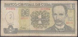 2010-BK-135 CUBA 2010 1$ JOSE MARTI. REEMPLAZO REPLACEMENT USED. SERIE GZ. - Cuba