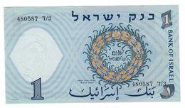 ISRAEL 1 Lira 1958 Pick 30A UNC Paper Spots - Israele