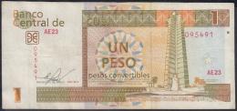 2013-BK-44 CUBA 2013 1 Cuc REEMPLAZO REPLACEMENT USED SERIE AZ. DOBLE FIRMA ERROR - Cuba