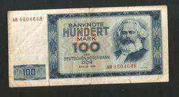 DDR - DEUTSCHLAND - DEUTSCHEN NOTENBANKEN - 100 Mark (Berlin 1964) K. Marx - 100 Deutsche Mark