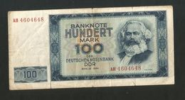 DDR - DEUTSCHLAND - DEUTSCHEN NOTENBANKEN - 100 Mark (Berlin 1964) K. Marx - [ 6] 1949-1990 : RDA - Rep. Dem. Tedesca