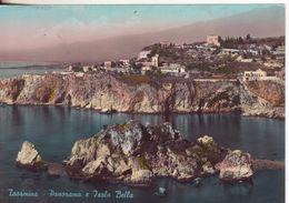 197-Taormina-Messina-Sicilia-Panorama E Isola Bella-Fotografica-Colori-Nuova-Nouveau-New - Mazara Del Vallo