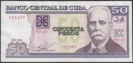 2014-BK-47 CUBA 2014 50$ CALIXTO GARCIA. REEMPLAZO REPLACEMENT. XF. SERIE BZ. - Cuba