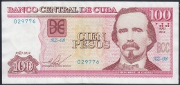 2014-BK-48 CUBA 100$ 2014 CARLOS MANUEL DE CESPEDES. REPLACEMENT REEMPLAZO AZ. XF. - Cuba