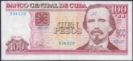 2015-BK-51 CUBA 100$ 2015 CARLOS MANUEL DE CESPEDES. REPLACEMENT REEMPLAZO AZ. XF. - Cuba