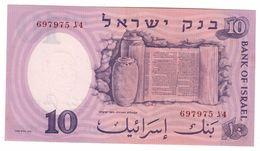 ISRAEL 10 Lira 1958 Pick 32B UNC - Israele