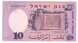 ISRAEL 10 Lira 1958 Pick 32C UNC - Israele