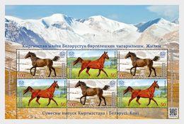 Kirgizië / Kyrgyzstan - Postfris / MNH - Sheet Joint-Issue Met Wit-Rusland 2017 - Kirgizië