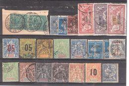 Colonies Françaises, Lot De 22 Timbres Neufs Et Obl Dont Type Groupe:Syrie, Levant,Grande Comore, Diego Suarez Chine ... - Collections