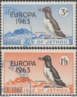 Jethou (Jersey) 1963. Vignettes Europa. Oiseau : Macareux. Oblitérés. Rares. - Europa-CEPT