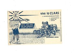 Buvard  Moissonneuses-Batteuses   Vive La Claas - Agriculture