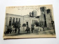 CPA Animée - Itéa (Grèce) - Ecole Et église - 1918 - Grecia