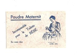 Buvard   Poudre Maternit Incomparable Pour La Toilette De Bébé - Buvards, Protège-cahiers Illustrés