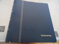 1 CLASSEUR DE TÉLÉCARTES (VIDE) DE 25 FEUILLETS ÉPAIS EN PLASTIQUE DE 8 PLACES CHACUN (POUR UN TOTAL DE 200 TÉLÉCARTES) - Tarjetas Telefónicas