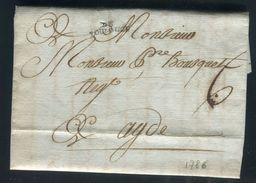 France - Lettre Avec Texte De Toulouse Pour Adge En 1786 - Ref N 47 - Poststempel (Briefe)