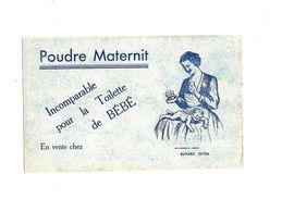 Buvard   Poudre Maternit Incomparable Pour La Toilette De Bébé  Fond Bleu - Enfants