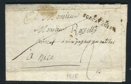 """France - Lettre Avec Texte Pour Nice En 1815 , MP """" P.5.P.  Forcalquier """"- Ref N 51 - Poststempel (Briefe)"""