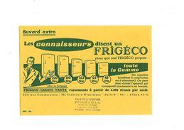 Buvard  Frigéco  Les Connaisseurs Disent Frigéco - Buvards, Protège-cahiers Illustrés