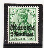 ÖMV1693 DEUTSCHE AUSLANDSPOSTÄMTER MAROKKO 1906 MICHL 35 ** Postfrisch Siehe ABBILDUNG - Deutsche Post In Marokko