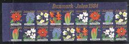 Dänemark 1984, Weihnachten, Weihnachtskaktus, Vignette / Danmark 1984, Christmas, Christmas Cactus., Cinderella - Fantasie Vignetten