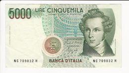 Italy 5000 Lire - [ 2] 1946-… : Républic
