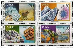 CHILI Mineraux, 4 Valeurs Emises 1996) ** MNH, Neuf Sans Charniere - Minéraux