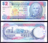 Barbados 2 Dollars 2007  P66a  AUNC - Barbades