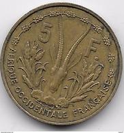 Afrique Occidentale Française - 5 Francs 1956 - Coins