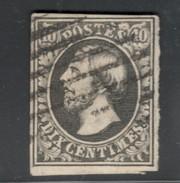 Luxemburg Yvert/Prifix 1e Noir Intense Oblit. Sans Défaut Cote EUR 125 (numéro Du Lot 195AL) - 1852 William III