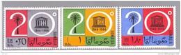 SOMALIA REPUBBLICA SOMALIEN SOMALILAND SOMALY 1966 UNESCO  3 Val Compl. MNH** - Somalie (1960-...)