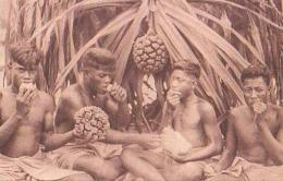 Oceanie       1        Indigènes Mangeant Le Fruit Du Pandamas - Cartes Postales