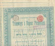 3X TRAMWAYS A VAPEUR PIEMONTAIS - Chemin De Fer & Tramway