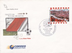 RIVER PLATE. COLECCION PASION ARGENTINA. 1999. MATASELLO CAPITAL FEDERAL - FDC - BLEUP - FDC