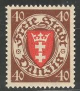 Danzig Michel 243 Sans Charnière TB Sans Défaut. Cote EUR 50 (numéro Du Lot 1D) - Danzig