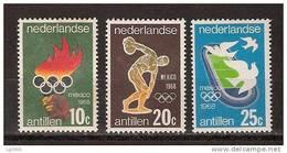 Nederlandse Antillen 393-395 MNH ; Olympiade Zegels, Olympic Games, Les Jeues Olympiques, Los Juegos Olimpicos - Summer 1968: Mexico City
