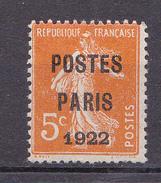 N° 30 Préoblitérés 5c Orange: Très Beau Timbre Neuf Impeccable Sans Charnière. - Préoblitérés