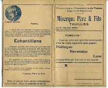 Thuillies Carte Pub. Plantation Et Manufacture De Tabacs Miserque Père Et Fils Vers 1933 Obourg Semois - Oude Documenten