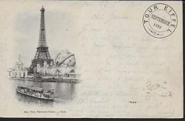 FRANCIA - PARIGI - HOTEL DE LA VILLE ET LE PONT D'ARCOLE  - B/N PRIMI NOVECENTO -  VIAGGIATA 1910 - Tour Eiffel