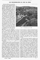 LES TRANSFORMATIONS DU PORT De GENES    1906 - Cultural