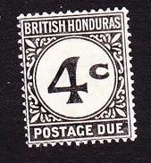 British Honduras, Scott #J3, Mint Hinged, Postage Due, Issued 1923 - British Honduras (...-1970)