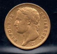 40F Or Napoléon, Tête Laurée, Empire Français De 1812 - France