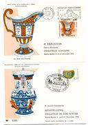 Dépliant 2 Volets : 8ième Expo Franco-allemande Philatélie Scolaire - Flamme 11 Décembre 1976 + BT Allemand - GFD 51 - Postmark Collection (Covers)